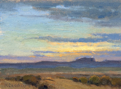 New Mexico Landscape up for auction on DailyPaintWorks.com