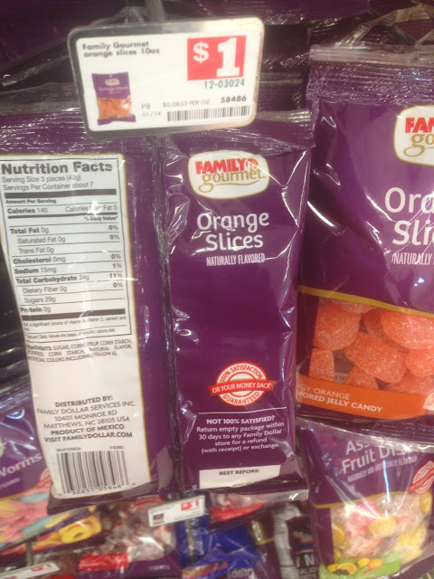 Orange Slices Candy, Family Gourmet - Family Dollar