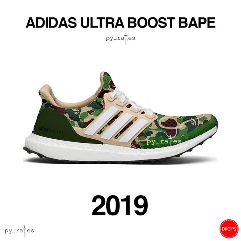 Coming Soon : Bape x adidas Ultra Boost 2019