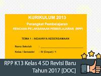 RPP K13 Kelas 4 SD Revisi Baru Tahun 2017 [DOC]