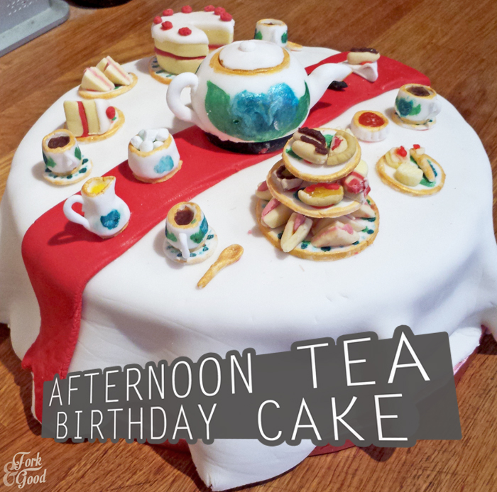 Afternoon Tea Birthday Cake Fork And Good