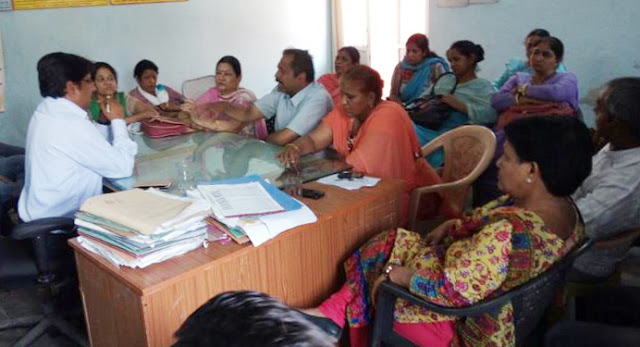 healt-workers-agitation-at-chc-kheri-kalan-greater-faridabad