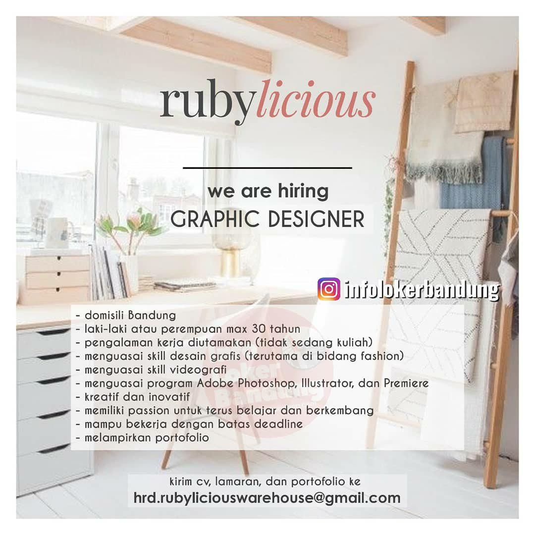 Lowongan Kerja Graphic Designer Rubylicious Bandung April 2019