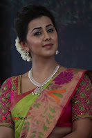 Actress Nikki Galrani Latest Pos in Saree Neruppu Da Movie Audio Launch  0014.jpg