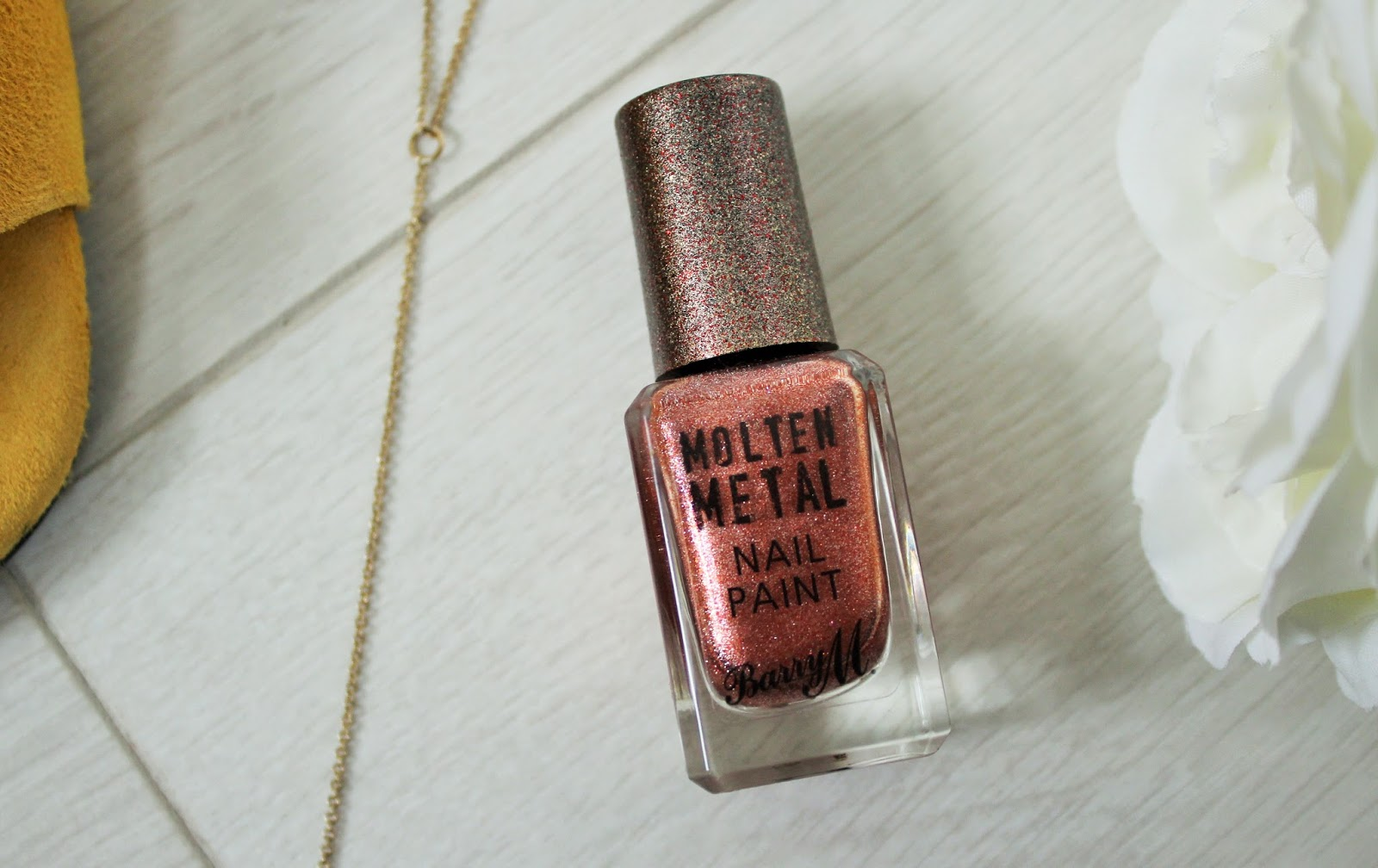 September Favourites 3 - Barry M Molten Metal Nail Paint in Copper Mine