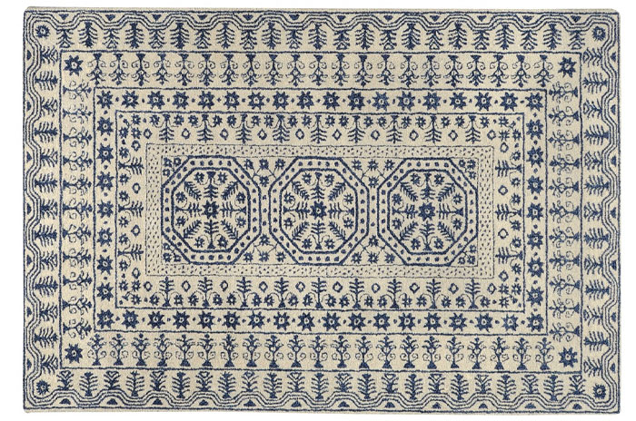 Blue and White Rug from Sky Iris | 20 Classic Style Rugs for Any Budget at www.andersonandgrant.com