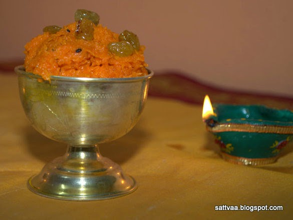 Sattvaa: Carrot Halwa - words are insignificant when you