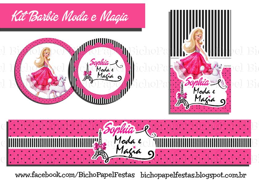 Kit festa Barbie Moda e Magia