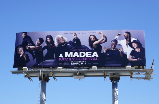 A Madea Family Funeral movie billboard