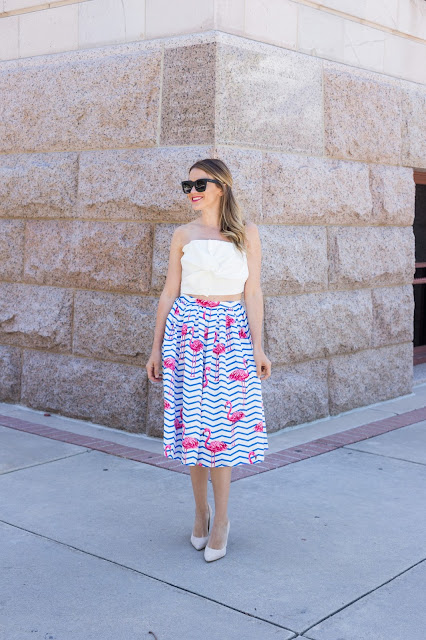 Flamingo Skirt with Bow Top