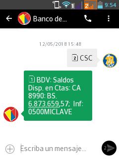 Consulta Por Sms Banco De Venezuela