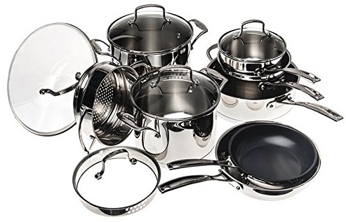 Cuisinart 13-piece stainless steel cookware set for only $150 (reg $479) + free shipping