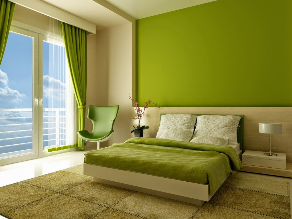 desain kamar tidur warna hijau muda | sobat interior rumah
