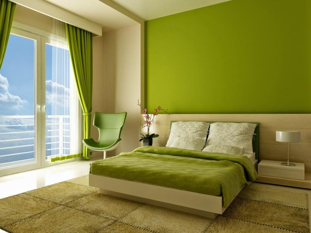 60 Desain Kamar Tidur Warna Hijau Minimalis Modern Simpel