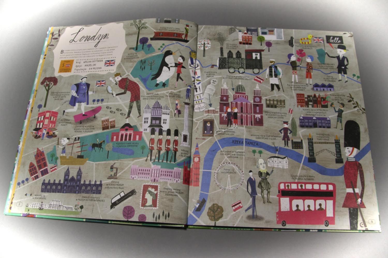 """""""Atlas miast. Podróżuj po świecie z przewodnikiem po 30 miastach"""" Georgia Cherry, Martin Haake"""