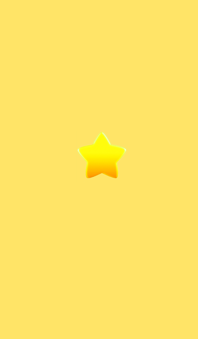 Simple cute star Yellow