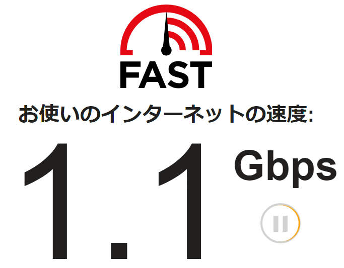 図:OCNの速度