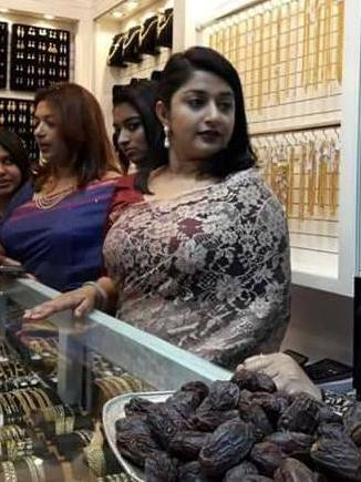 Meera-jasmin-new-look-saree
