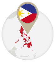 Philippine flag and map