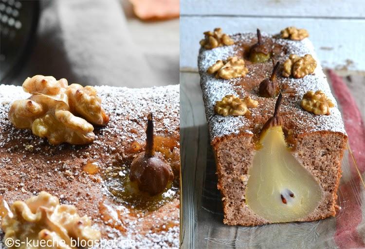 Walnuss-Birnen Kuchen