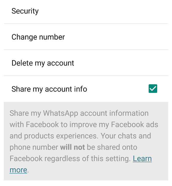 WhatsApp user data