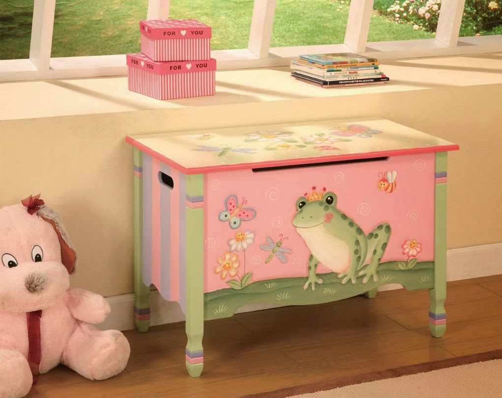 Princess Toys Box Storage Kids Girls Chest Bedroom Clothes: Children's Wooden Toys Toy Play Kitchen Furniture