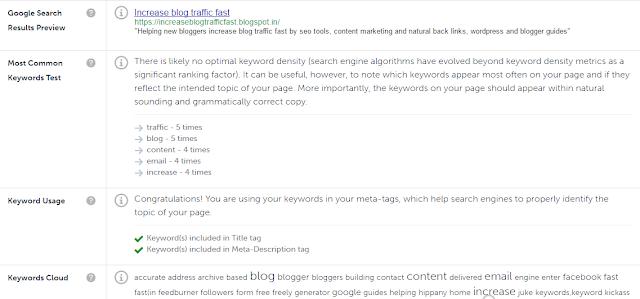 keyword usage cloud
