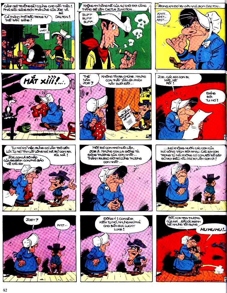 Lucky Luke tap 15 - ma dalton trang 43