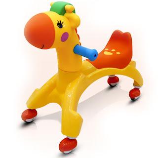 Baby Ride On Car Cartoon Buggies Walker Yellow