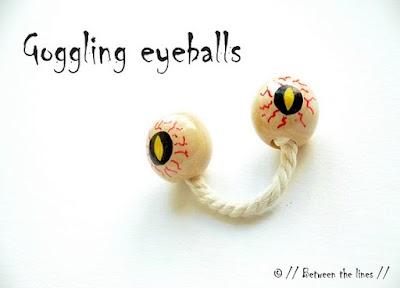 Globos oculares para gastar una broma en Halloween