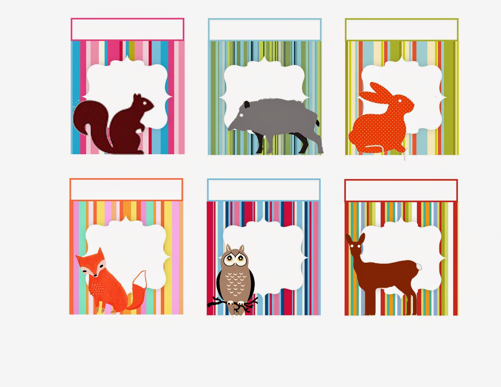 Animals Free Printable Frames Toppers Tags Or Labels