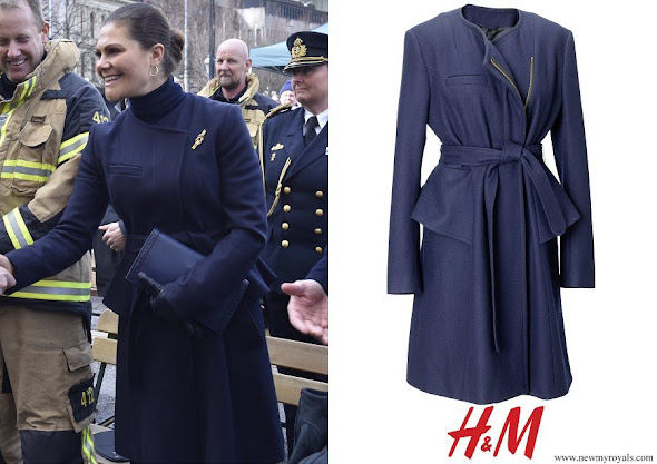 Crown Princess Victoria wore H&M wool coat from AW 2010 collection