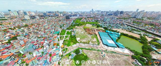 Hướng view phía Tây Bắc ra phía đường Nguyễn Trãi
