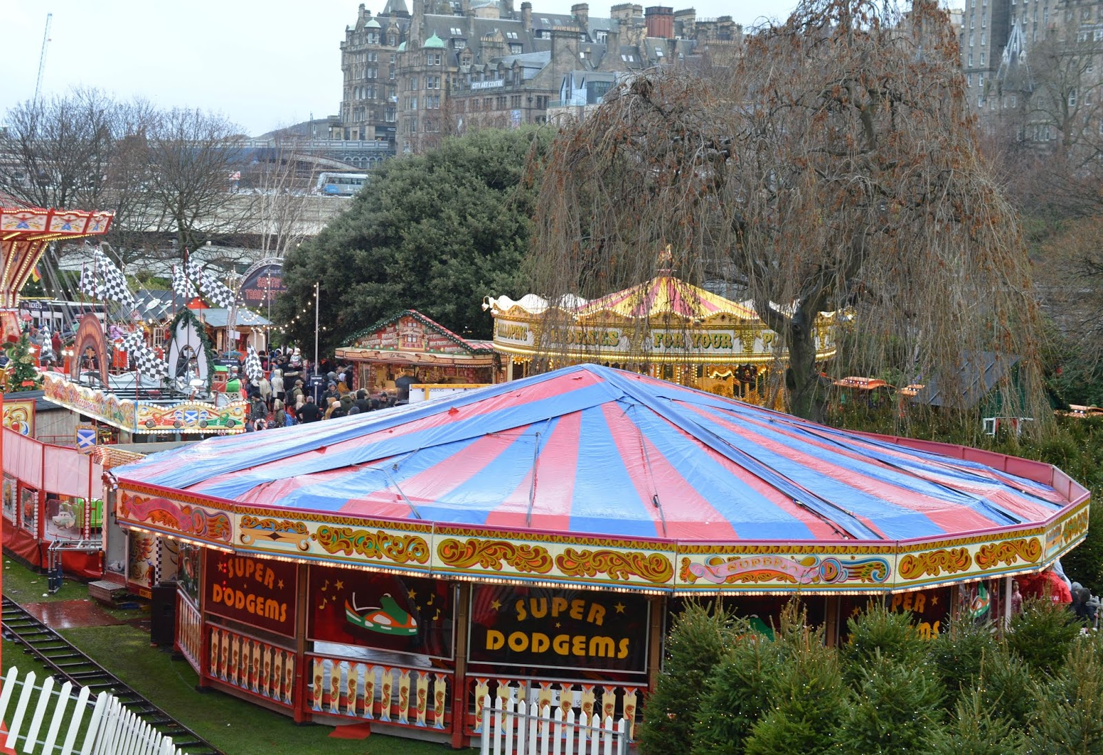 Top Tips for Driving to Edinburgh Christmas Markets with Kids - Santaland rides