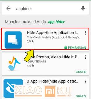 cara menyembunyikan aplikasi di xiaomi dengan hide app hide application