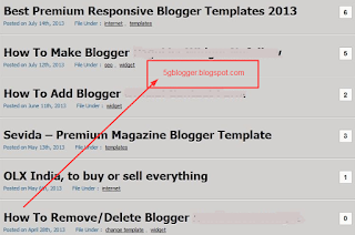 how to show post title in home page in blogger