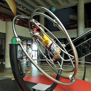 Giroscópio Humano - Museu de Ciência e Tecnologia da PUCRS)