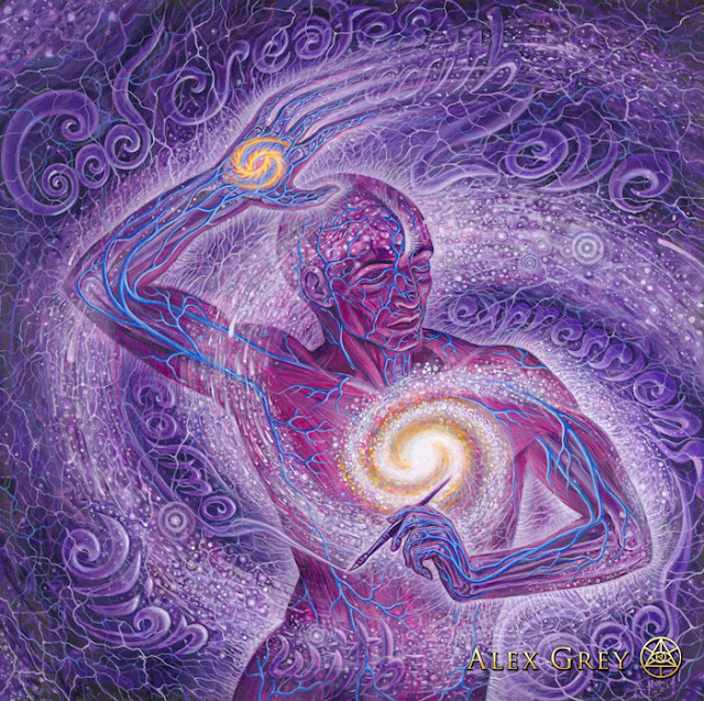 """Cosmic Artist'' by Alex Grey"