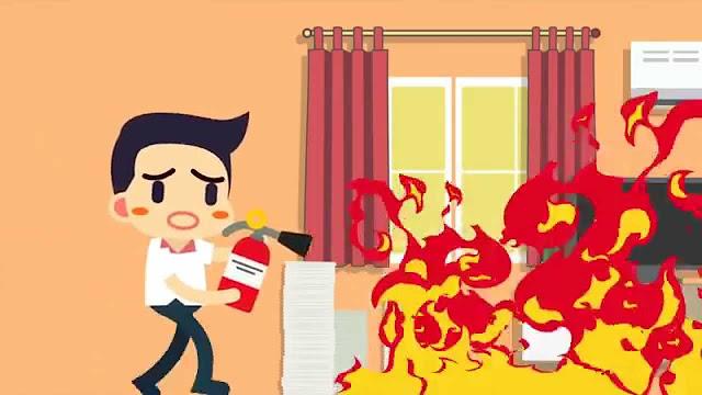 kebakaran rumah kayu