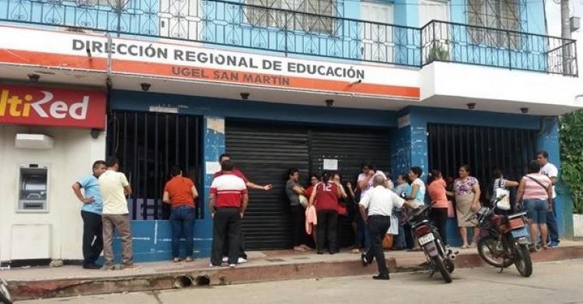 Docentes denuncian que la UGEL San Martín y Picota favorecen a casas comerciales