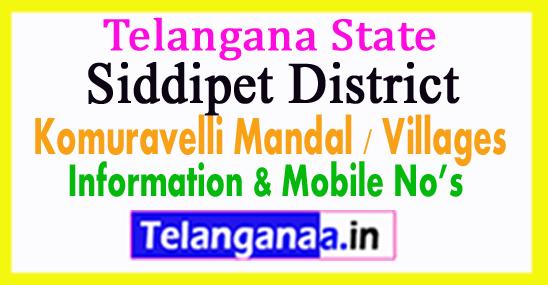 Siddipet District Komuravelli Mandal Village in Telangana State