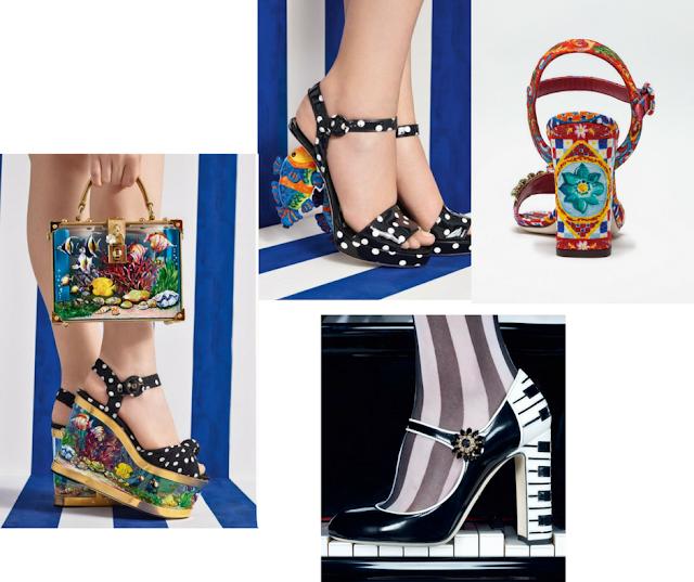 Lunares, brocados, piel, en sandalias, zapatos.