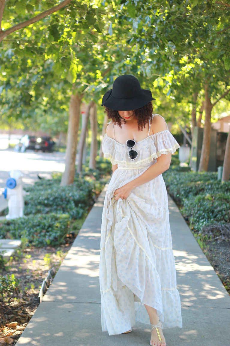 gunne sax dress, maxi dress, hipster style, vintage style, real people bloggers