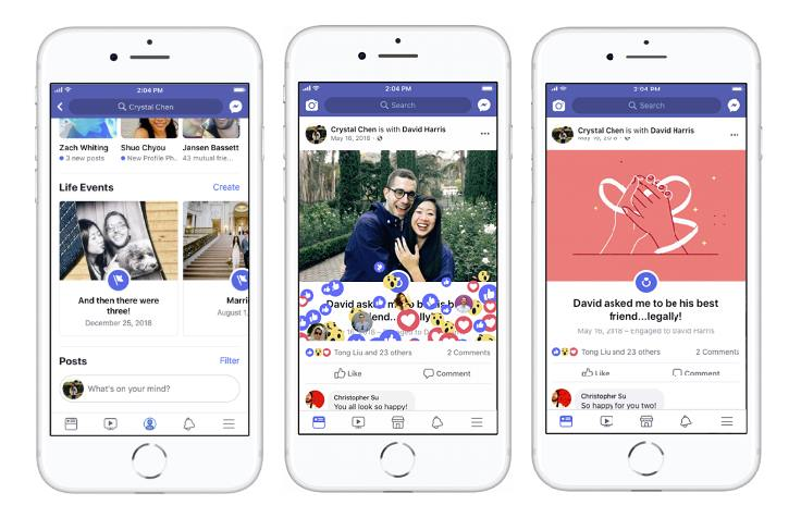 Facebook Updates Life Events with New Features and Prominent Profile Placement
