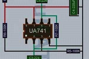 Bass Treble Booster dengan IC UA741