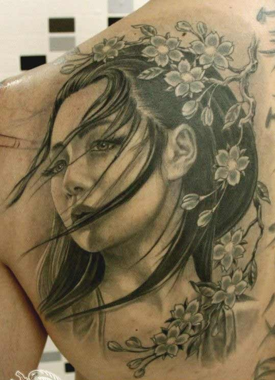 Attractive Shoulder Blade Upper Back Tattoos For Men