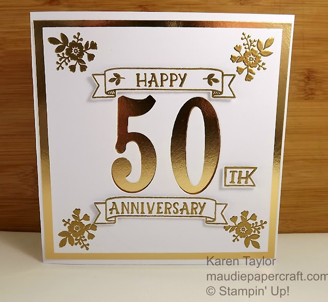 Stampin' Up! Number of Years golden anniversary card