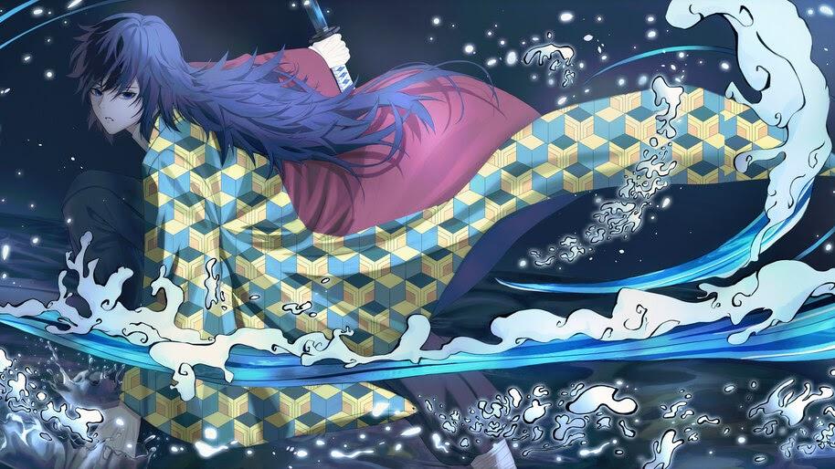 Giyu, Tomioka, Water Breathing, Kimetsu no Yaiba, 4K, #7.1137