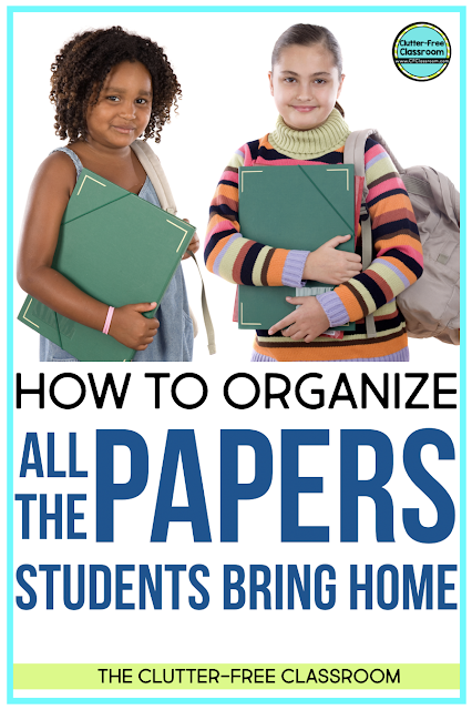 The home school connection between the teacher and families / parents is so important! Check out these tips on how to organize take home folders and student mailboxes filled with corrected work, notes to parents, and behavior charts in this blog post.
