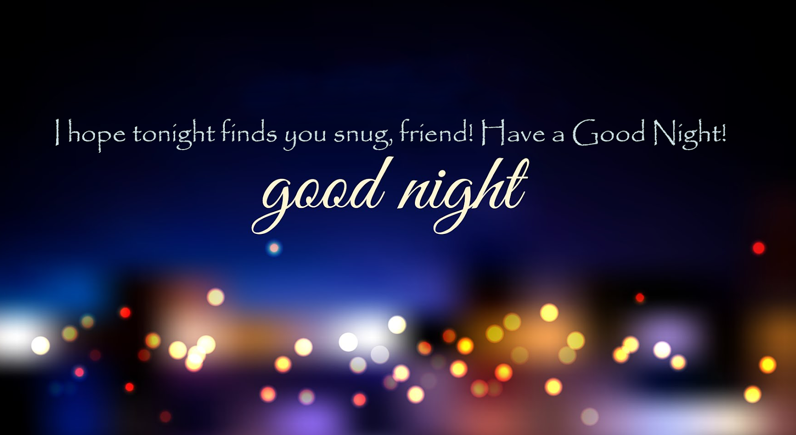 Good Night Message For Friends Sweet Good Night